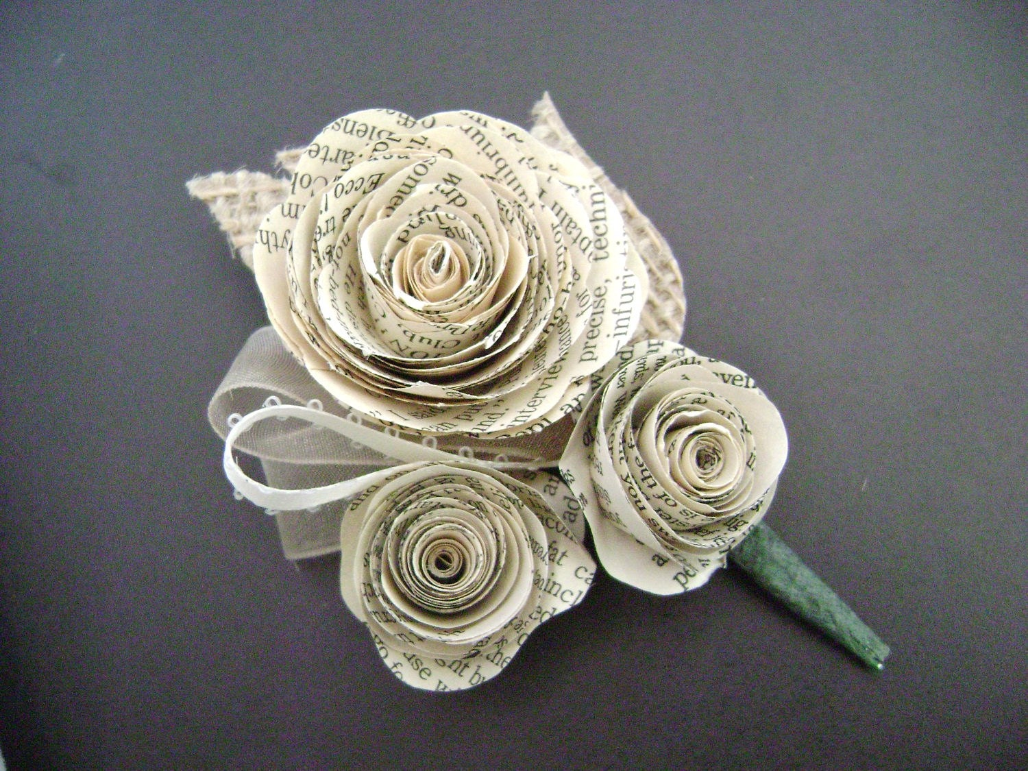 Spiral Rose Boutonniere Buttonhole For Groom Or Corsage