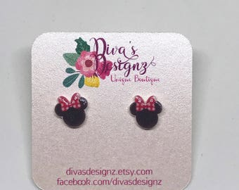 Minnie Mouse earrings Minnie Mouse disney earrings disney minnie earrings Minnie Mouse disney jewelry