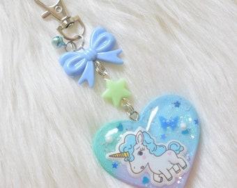 Unicorn Resin Keychain/Bag charm