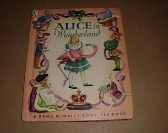 Vintage Alice in Wonderland and Through the Looking Glass