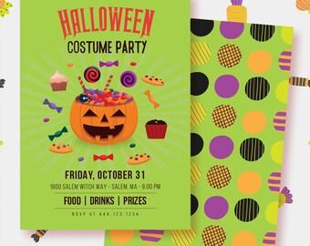 Halloween Costume Party Invitation - Printable