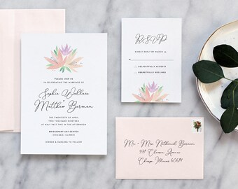 Romantic Floral Wedding Invitation - Deposit Payment