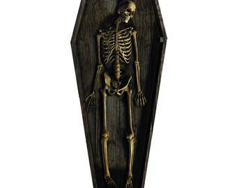 Skeleton Casket Life-Size Cardboard Cutout