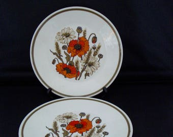 Meakin studio 'poppies' salad plates