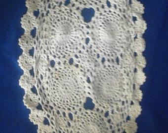 Vintage Crochet Mat Protector Doilie