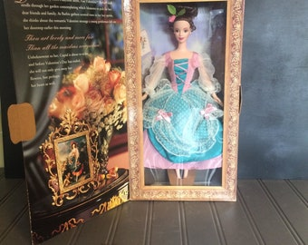 Vintage Hallmark Special Edition Fair Valentine Barbie by Mattel Collectible Barbie in Box