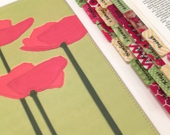 """STANDARD """"Poppy Impressions #2"""" Multicolored Books of Bible Tabs by Victoria Anderson"""