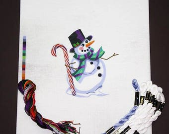 Needlepoint, Needlepoint Xmas Kits, Snowman Needlepoint, Needlepoint Kits, Painted Needlepoint, Needlepoint Designs, Needlepoint Canvases