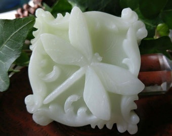 Gardenia Dragonfly Shea Butter Glycerin Soap - Vegan -