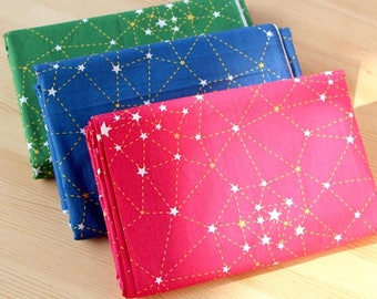 160cm / 63 inch Width, Simple Star / Galaxy / Sky Pattern Cotton Fabric, Half Yard