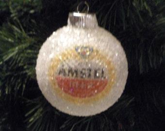 NEW Amstel Beer, glass glitter ornament