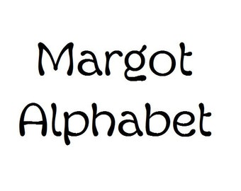 Instant Download - Margot Alphabet Filet Crochet Cross Stitch Pattern