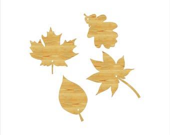 Fall Leaf Wood Cutouts