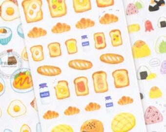 Toast Breakfast bread Milk Washi mini Stickers