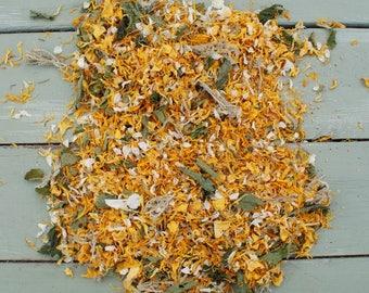 Natural Dried Flowers, Herbs, Potpourri, Petals CITRUS BLEND No3 Fennel, Lemongrass, Rosemary, Verbena