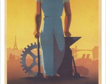 WW2 French Propaganda Vintage Poster 24x36 Vichy Collaborateur Traison 1943