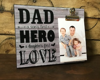Gift For Dad,Personalized names, Dad a sons first hero a daughters first love, Father's Days Gift