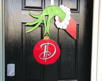 Grinch Christmas Door Hanger