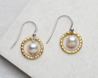 Encircled Pearl Earrings