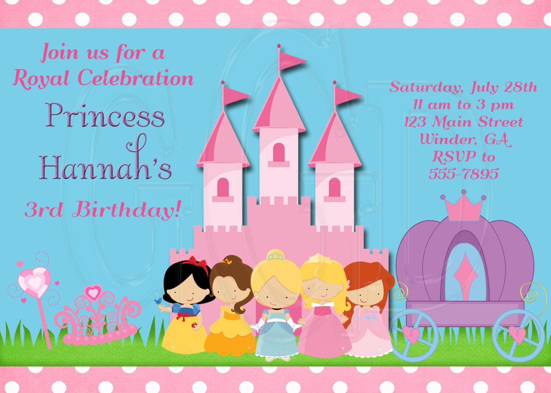 Princess birthday invitation disney inspired digital file zoom stopboris Images