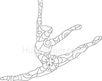 Bean Stitch Dancer HL2168 embroidery file
