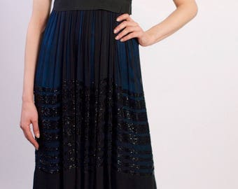 Chloe Vintage Silk Chiffon Sequin Runway Dress