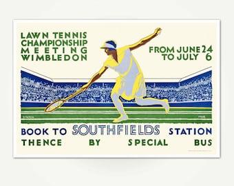 Lawn Tennis Championship Meeting Wimbledon Poster Print - Vintage Wimbledon Tennis Poster Art