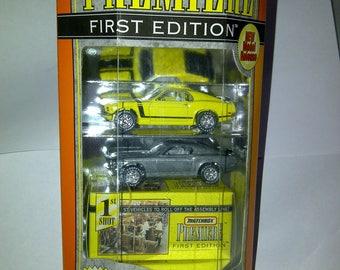 1970 Boss Mustang Matchbox Premiere 2 Car Collection