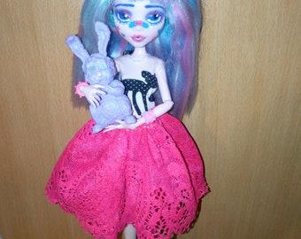 Ooak custom draculaura monster high doll decora girl