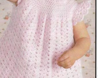 Instant Download - PDF- Beautiful Vintage Dress Crochet Pattern (D6)