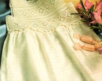 Vintage Crochet Yoke Dress Pattern- Toddler - Girl