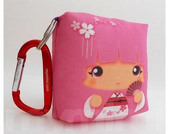 Toy Keychain, Girls Pillow, Geisha Pillow, Pink Pillow, Kawaii Pillow, Kawaii Toy, Soft Toy, Kawaii Print, Japanese