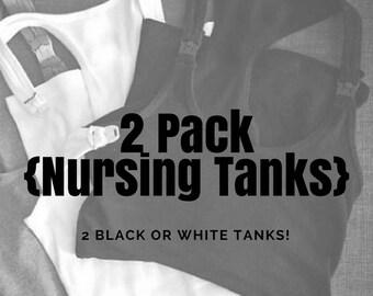 2 Pack of Nursing Tanks // Maternity // Breastfeeding // Tank Top // Nursing