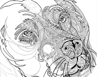 Your Pet In A Coloring Page
