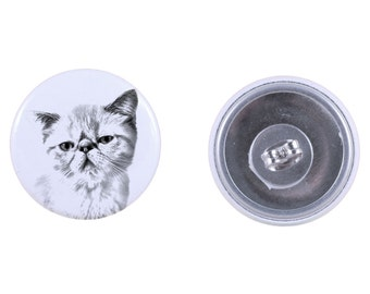 Earrings with a cat - Exotic Shorthair