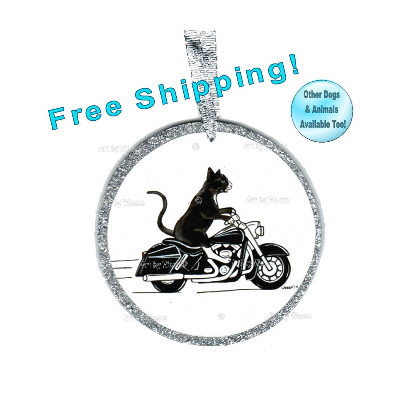 Cat Ornament Cat Riding Motorcycle Cat On Harley Davidson