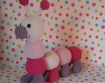 crocheted girl chenille blanket