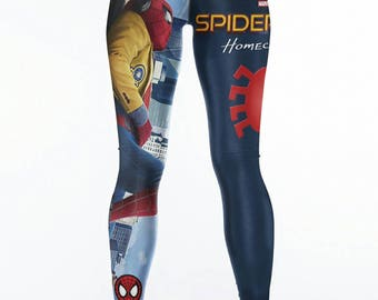 Spiderman Spider-Man Homecoming Leggings S, M, L, XL, XXL Marvel Comics Superhero Tom Holland Comic Con Yoga Pants SDCC Clearance