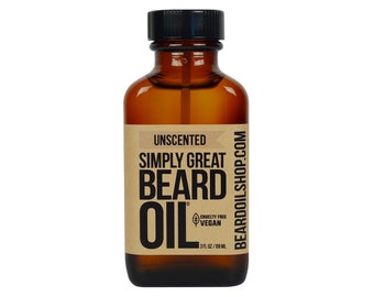 Beard Oil UNSCENTED by Simply Great