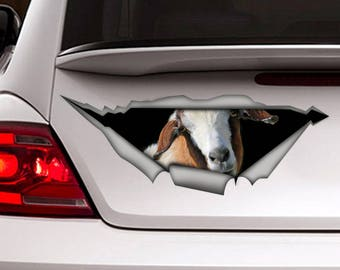 Goat car decal , farm decal, funny decal, goat sticker, animal decal