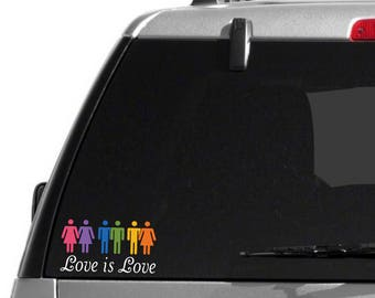 Love is Love Decal - Rainbow Decal - PRIDE Decal  - Gay PRIDE Decal - Gay Decal - Lesbian Decal - Car Decal - Laptop Decal