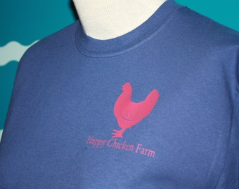 Custom Chicken Shirt - Plus size Long Sleeve t-shirt - Farm Name Chicken t-shirt - Chicken Tee - Add custom text to Chicken t-shirt