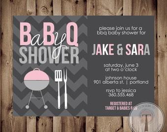 Baby Shower BBQ, BBQ Baby Shower Invitation, Bbq Shower, Barbecue Baby  Shower,