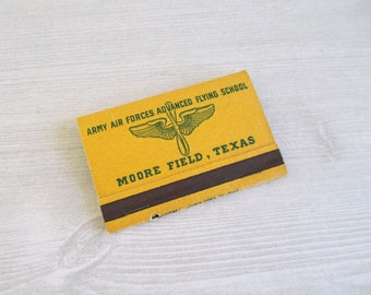 Vintage World War II U.S. Army Air Forces Matches - Moore Field, Texas