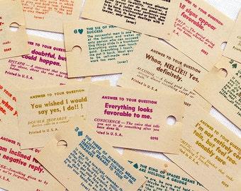 40 x Vintage Fortune Teller Cards Swami Paper Napkin Twilight Zone Tarot Fortune Telling Junk Journal