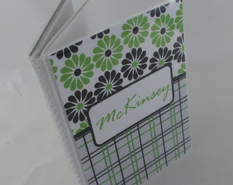 Personalized Photo Album baby photo album girl photo album boy baby shower gift Grandmas brag book 4x6 or 5x7 picture album black green 111