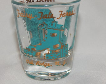 Vintage 1950s Americana Souvenir New Jersey Fairy Tale Forest Shot Glass