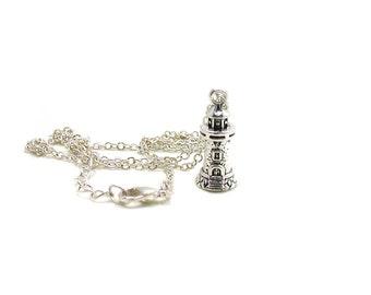 Lighthouse Necklace, Lighthouse Pendant, Charm Jewelry, Silver Lighthouse Necklace, 3D Lighthouse Charm, Beach Charm, Nautical Necklace