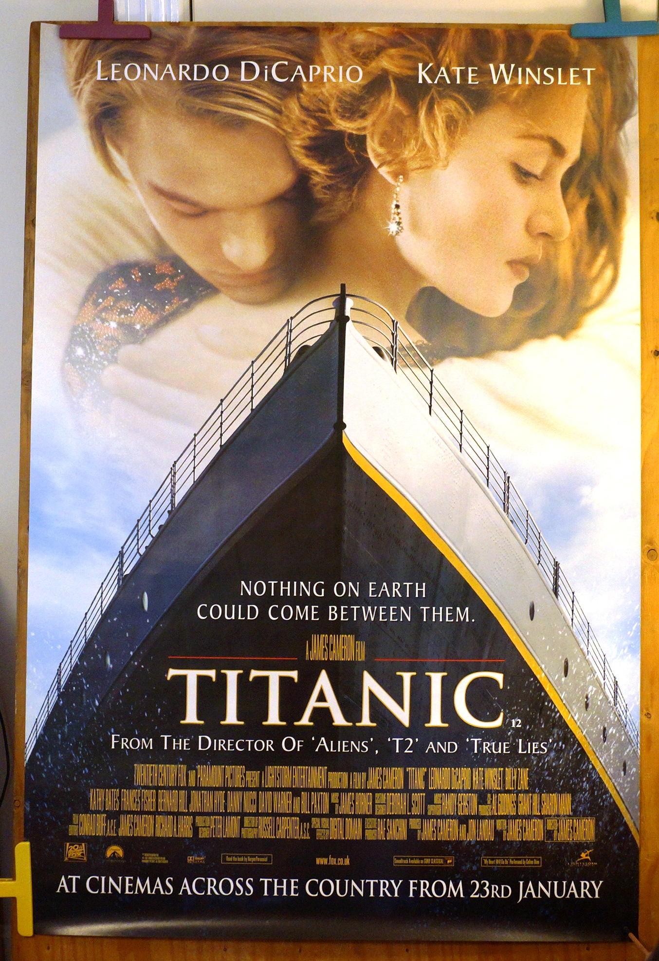 titanic original vintage movie poster titanic