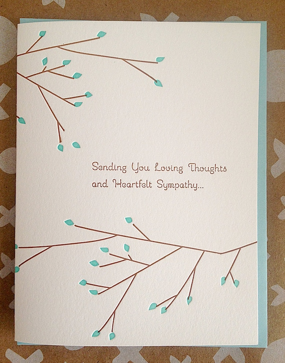 Sympathy card condolence card letterpress sympathy altavistaventures Images